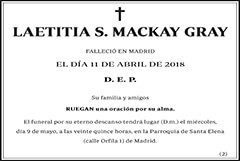 Laetitia S. Mackay Gray